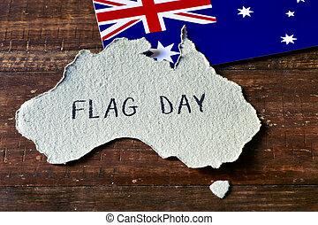 vlag, australië, dag