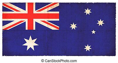 vlag, australië, grunge