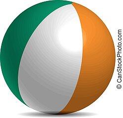 vlag, bal, schaduw, ierland, 3d