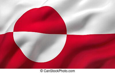 vlag, blazen, groenland, wind