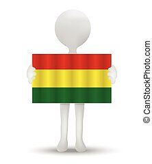 vlag, bolivia, plurinational, staat