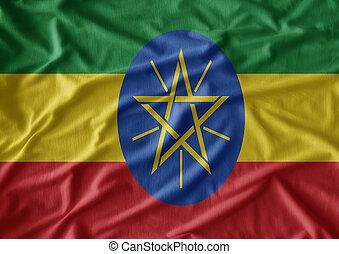 vlag, ethiopië, weefsel