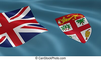 vlag, fijian, wind