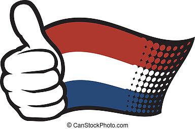 vlag, (flag, holland, netherlands)