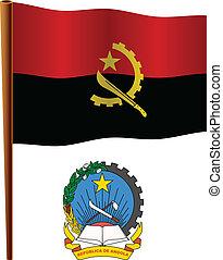 vlag, golvend, angola