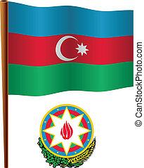 vlag, golvend, azerbaijan