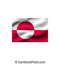 vlag, greenland.