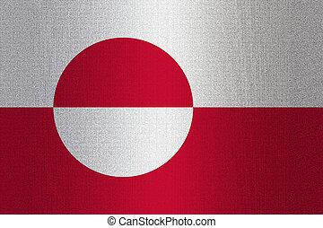 vlag, groenland, steen