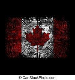 vlag, grunge, canadees