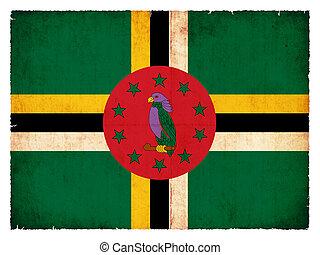 vlag, grunge, dominica