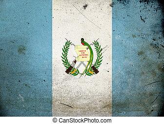 vlag, grunge, guatemala
