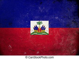 vlag, grunge, haïti