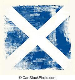 vlag, grunge, schotland