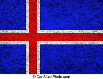 vlag, iceland.