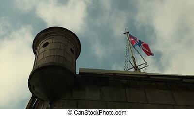 vlag, in de wind