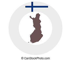 vlag, kaart, finland, achtergrond