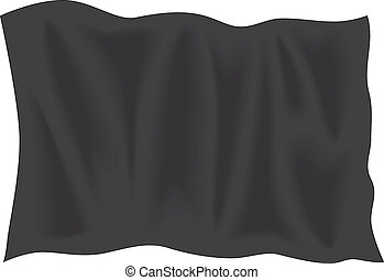 vlag, knippen, zwarte buiten