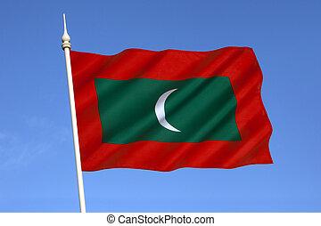 vlag, malediven