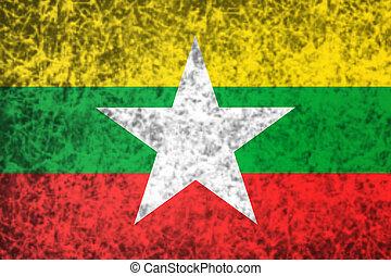vlag, myanmar.