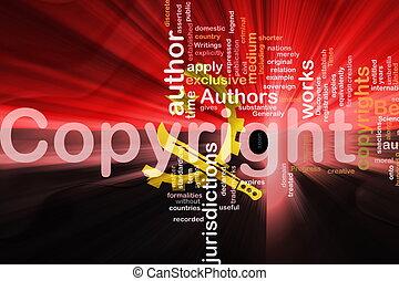vlag, ofangola, golvend, auteursrecht, wet