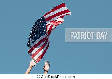 vlag, patriot, hemel, tekst, amerikaan, dag