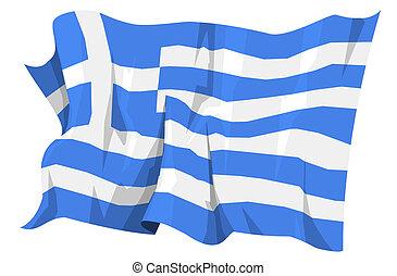 vlag, series:, griekenland