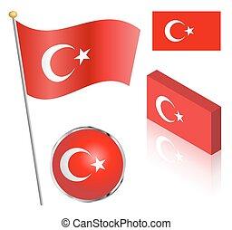 vlag,  Set, turkse