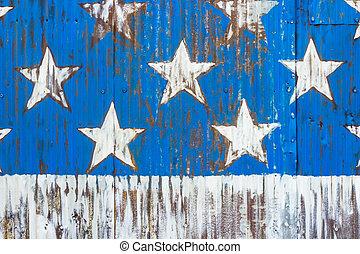 vlag, sterretjes, amerikaan