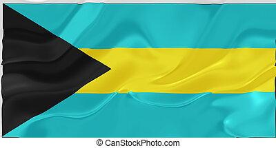 vlag, van, bahamas, golvend