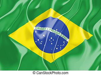 vlag, van, brazilie