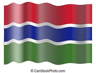 vlag, van, gambia