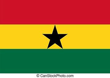 vlag, van, ghana