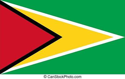 vlag, van, guyana
