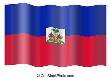 vlag, van, haïti