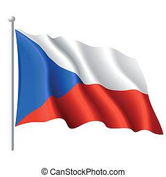 vlag, van, het tsjechië