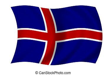 vlag, van, ijsland