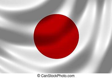 vlag, van, japan