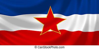 vlag, van, joegoslavië