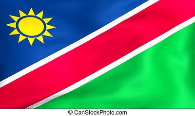 vlag, van, namibie