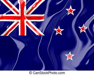 vlag, van, nieuw-zeeland