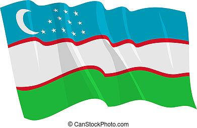 vlag, van, oezbekistan