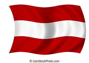 vlag, van, oostenrijk
