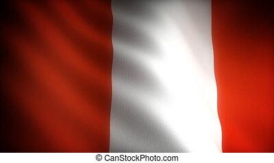 vlag, van, peru