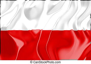 vlag, van, polen