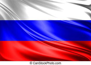 vlag, van, rusland