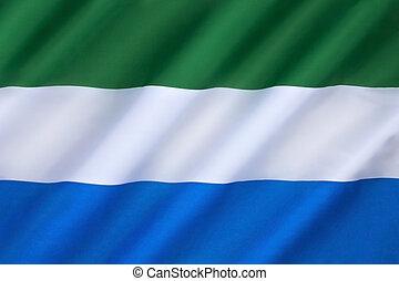 vlag, van, sierra leone