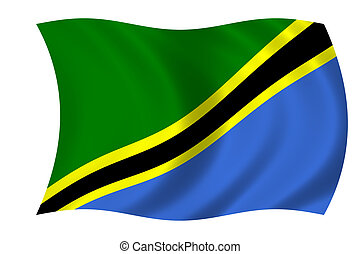 vlag, van, tanzania