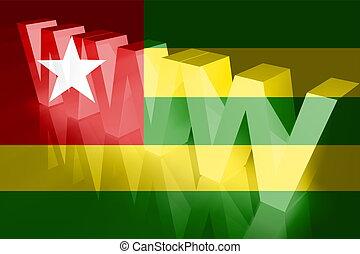 vlag, van, togo, www, internet