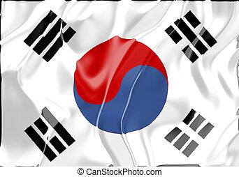 vlag, van, zuid-korea