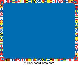 vlag, vector, grens, eps8, nautisch